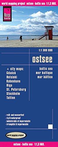 Reise Know-How Landkarte Ostsee (1:1.300.000) mit Stadtplänen Danzig, Helsinki, Kopenhagen, Riga, St. Petersburg, Stockholm, Tallinn: world mapping project (Englisch) Landkarte – Folded Map, 11. April 2011 3831772355 Karten / Stadtpläne / Europa Deutschlan