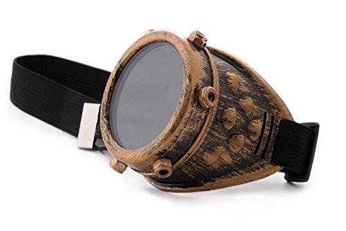 de Copper EYED des Eyed Steampunk Welding Lunettes EYE Gold One ONE Soudage goggles de Cyber soleil Antique ZYqvF