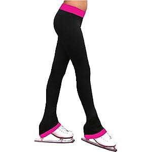 """ChloeNoel Figure Skating 2"""" Contrast Waist Pants P04"""