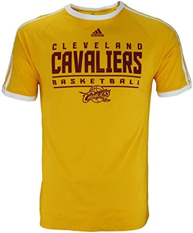 diseñador Notable marzo  Amazon.com: adidas Cleveland Cavaliers NBA - Camiseta de manga corta para  hombre, color dorado, Dorado, S: Clothing