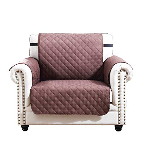 Argstar Reversible Armchair Cover for Pets Furniture Protector Chair Slipcover Chocolate/Natural