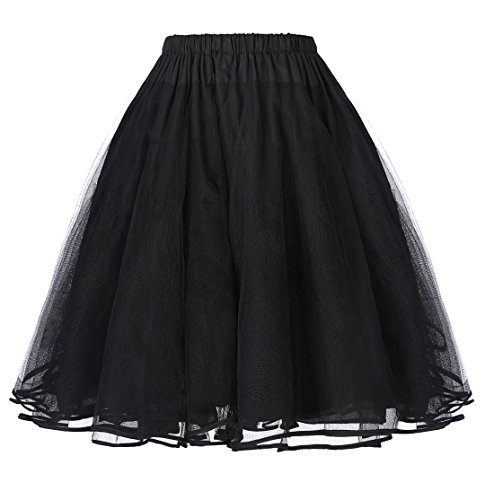 Womens Christmas Pettiskirt Black 2X]()