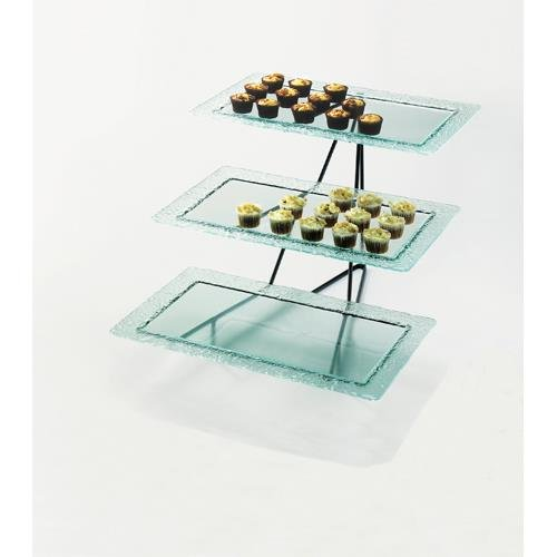Calmil 1710-13 Glacier Rectangle Tray Display, 20.75'' Length x 24.75'' Width x 15.25'' Height, Black by Cal Mil