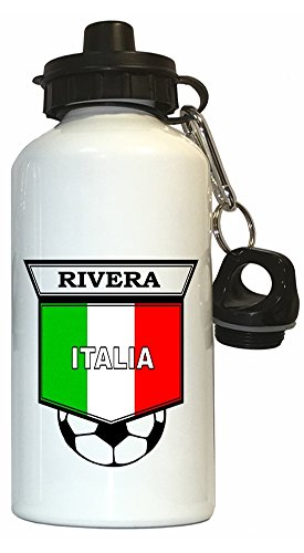 Gianni Rivera (Italy) Soccer Water Bottle White by Custom Image Factory