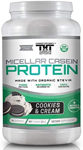 Amazing Micellar Casein Protein Powder for Men and Women Made with Probiotic s, Digestive Enzymes Organic Stevia. Slow Digesting Protein Shake for Healthy Gut Bacteria