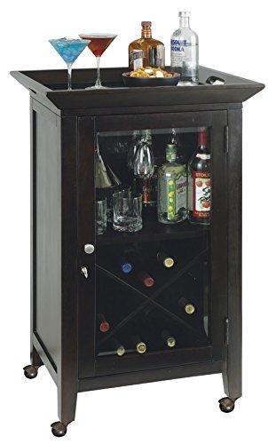 Howard Miller 695-074 Butler Wine & Bar Cabinet - Bar Height Beveled Glass