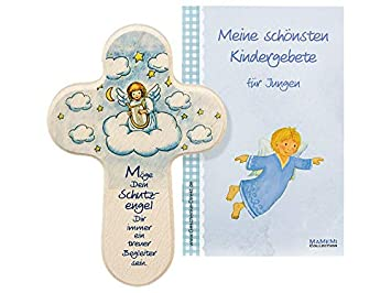 MaMeMi Kinder-Kreuz Kinderzimmer Schutzengel mit Harfe ...