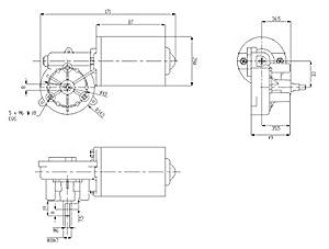 Garage Door Motor 12V DC Right Angle Reversible Electric Gear Motor 45 RPM High Torque (Color: Black, Tamaño: Left-12V45RPM)