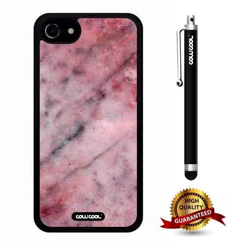 (iphone 7 Case, Marble Pattern Case, Cowcool Ultra Thin Soft Silicone Case for Apple iphone 7 - Pink Twill Marble Texture)