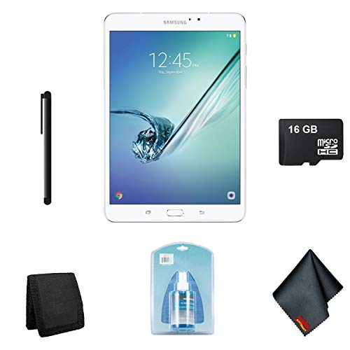 Price comparison product image Samsung Galaxy Tablet - 32GB 8 Inch Galaxy Tab S2 Wi-Fi Tablet (2016,  White) - Starter Bundle