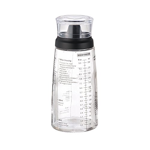 Leifheit Salad Dressing Shaker Bottle, Black