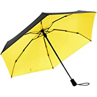 Oak Leaf 5 Folding Small Compact Travel Umbrella (Yellow)