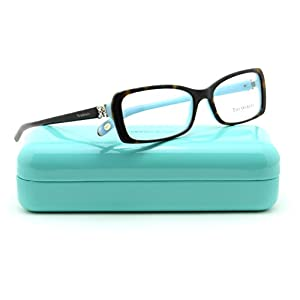 Tiffany & Co. TF 2091-B Women Rectangle Eyeglasses RX - able Frame (Havana Blue 8134, 53)