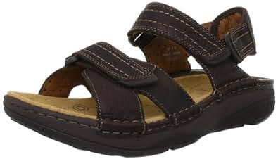 Clarks Movers Ray - Sandalias de cuero para hombre marrón marrón One Size Fits All, color marrón, talla 44.5
