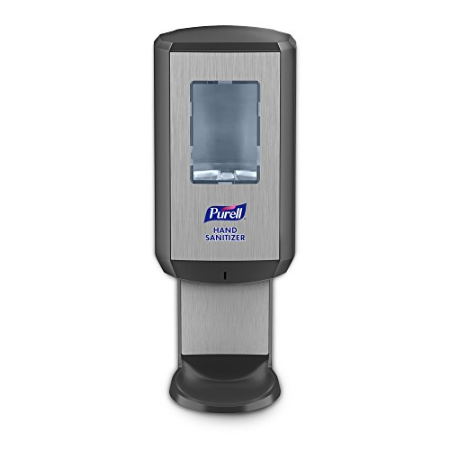 PURELL Hand Sanitizer CS6 Dispenser - Touch Free - Graphite, Dispenser for 1200mL CS6 Hand Sanitizer Refill - -