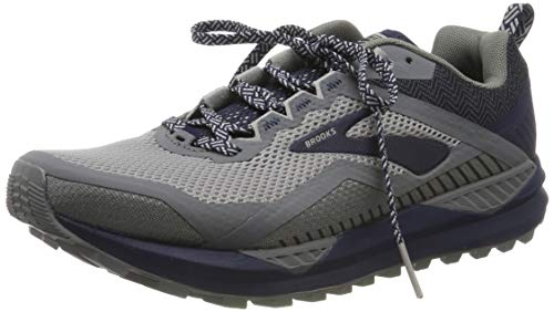 Brooks Men's Cascadia 14 Grey/Navy 10.5 D US