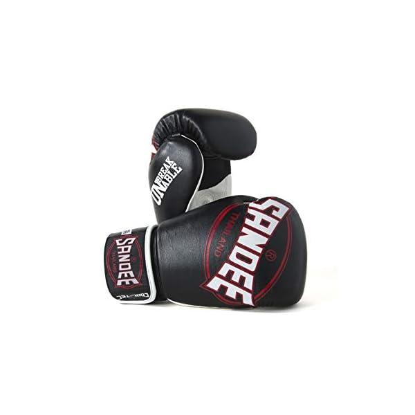 Sandee-Cool-Tec-Boxing-Gloves-Black-White-Red-Muay-Thai-Kickboxing-Training