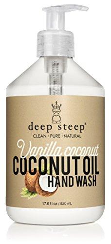 Deep Steep Coconut Oil Hand Wash, Vanilla, 17.6 Fluid Ounce (Coconut Oil For Hands)