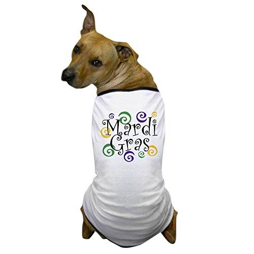 CafePress - MARDI GRAS Dog T-Shirt - Dog T-Shirt, Pet Clothing, Funny Dog Costume ()
