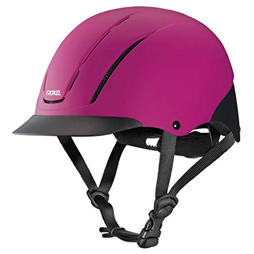 Troxel Spirit Raspberry Duratec Horse Riding Western Helmet Low Profile Adjustable (Medium)