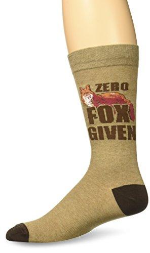 K.Bell Black Label Men's Zero Fox Given Crew Socks, Brown, Sock Size: 10-13/Shoe - Zero Men