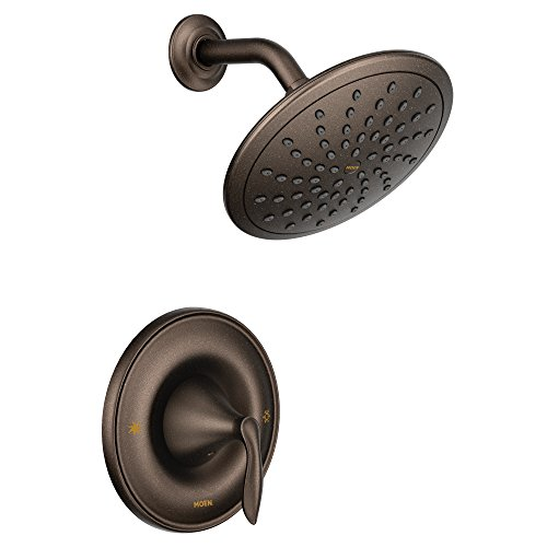 Moen T2232EPORB Eva Posi-Temp Shower Faucet Trim with Eco-Performance Rainshower Showerhead, Valve Required, Oil Rubbed Bronze