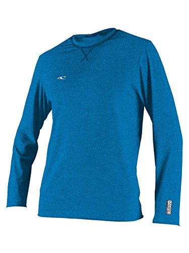 O'Neill Men's Hybrid Long-Sleeve Surf Rashguard - Brite Blue/Large (Guard Rash Oneill Shirts)