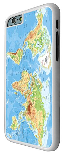 """iphone 6 Plus 5.5"""" Cool Funky Colourfull World Map Design Fashion Trend Hülle Case Back Cover Metall und Kunststoff"""