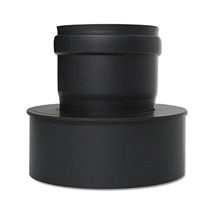 Pellet Tubo Expansión 80 – 150 mm Negro Pellet para salida de humos