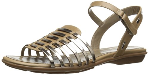 Easy Spirit Dames Rensdale Gladiator Sandaal Taupe / Licht Goud