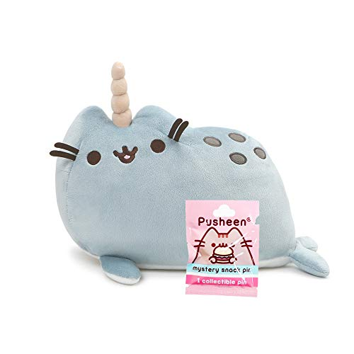 Pusheen Narwhal Pusheenimal and Enamel Pin Set