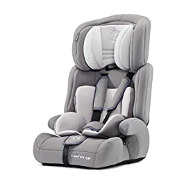 Kinderkraft Car Seat Comfort UP, Booster Child Seat, with 5 Point Harness, Adjustable Headrest, for Toddlers, Infant, Group 1/2/3, 9-36 Kg, Up to 12 Years, Safety Certificate ECE R44/04, Gray