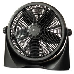 ALERA FAN163 16'' Super-Circulation 3-Speed Tilt Fan Plastic Black