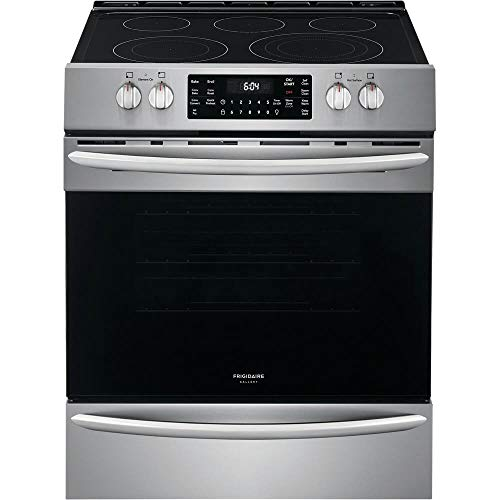 Frigidaire FGEH3047VF Gallery Series 30″ Electric Range with 5 Elements, 5.4 Cubic ft. Capacity Convection Oven, in Stainless Steel