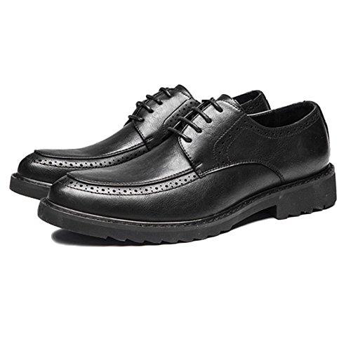 Business Vernice Punta On Oxblood Scarpe A Uomo in for Black Pelle Slip Brogues Casual Affari in Pelle da Men FwZTHWq1
