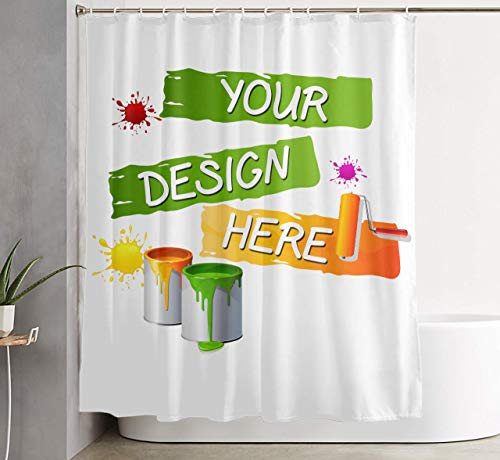 High-End Private Custom Domineering Personality Waterproof Shower Curtain(60Wx72H, Custom Shower Curtains)