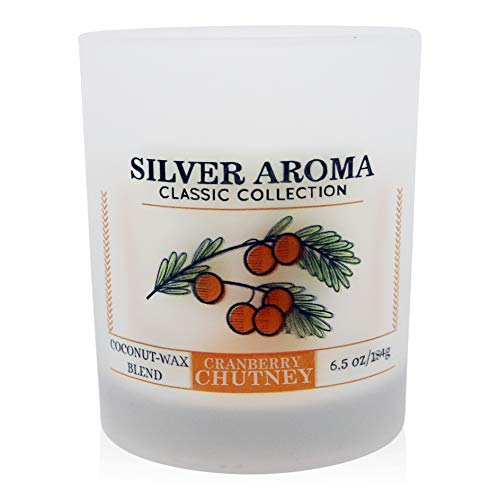Silver Cranberry - Silver Aroma, Cranberry Chutney, Classic Collection, Coconut Wax Candle