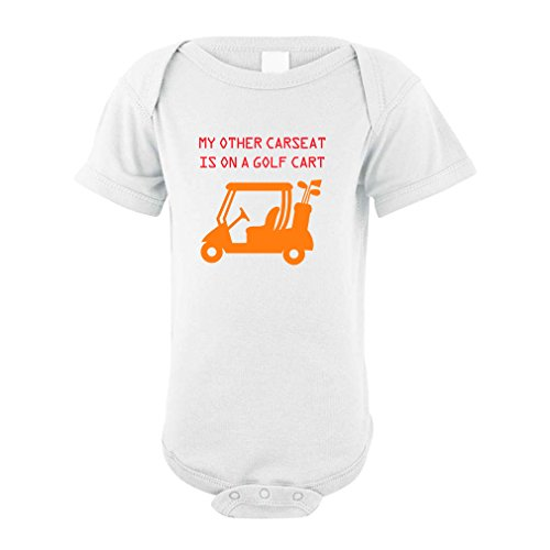 Price comparison product image Cute Rascals My Other Car Seat is On A Golf Cart Baby Bodysuit One Piece White 18 Months
