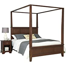 Home Styles Furniture 5529-6101 Chesapeake Canopy Bed and Night Stand, King