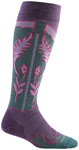 Darn Tough Merino Wool Annie Oakley Knee High Sock - Women's Plum Small DISCONTINUED