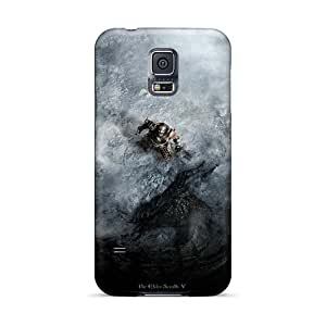 Great Hard Phone Case For Samsung Galaxy S5 With Unique Design Realistic Skyrim Dragon Shout Series WandaDicks