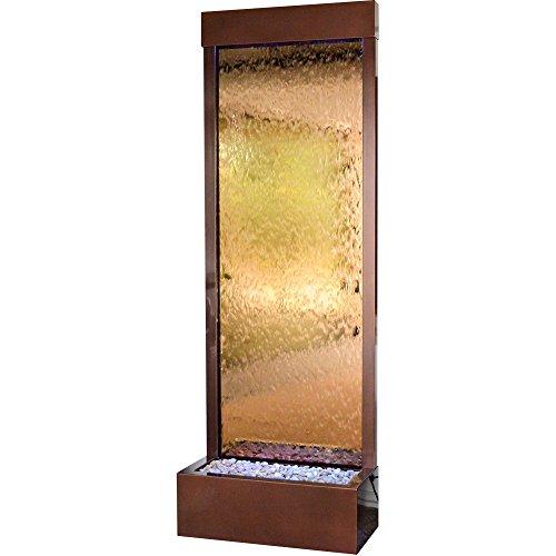 BluWorld Gardenfall 90 in. Garden Indoor/Outdoor Fountain – Dark Copper Gardenfall with Bronze Mirror