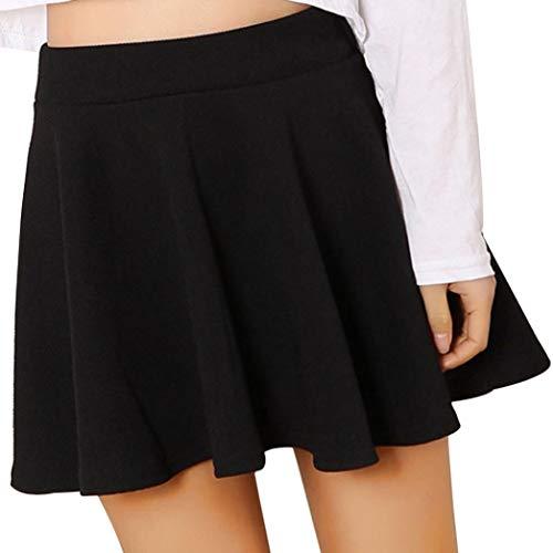 Halloween Promotion! Sale! Teresamoon Women Lady High Waist Plain Skater Flared Pleated Short Mini Skirt Shorts Skirts