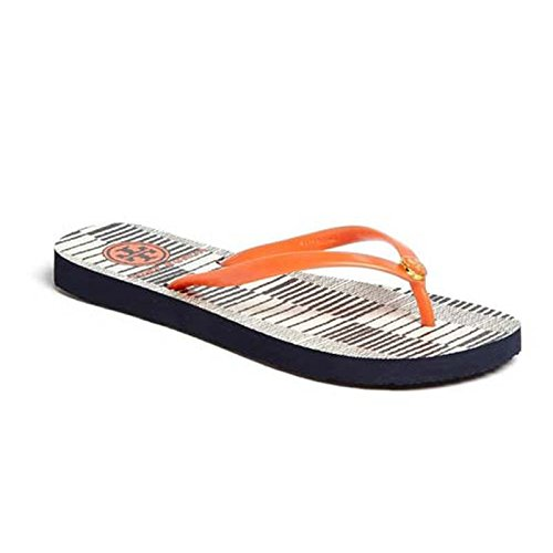 f3ef0664496c Tory Burch Women s Thin Flip Flop Multi-Color Rubber Flip-Flops and House  Slippers - 5.5 UK  Buy Online at Low Prices in India - Amazon.in