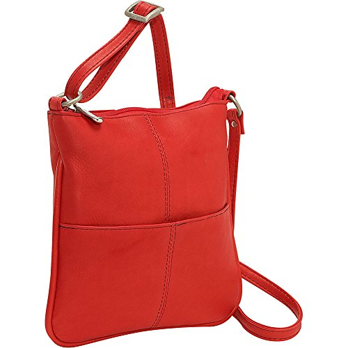 Cross Leather Pocket Body Donne Front Red Le 8Tw4qBf