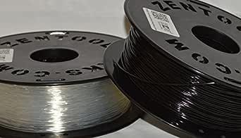 Zen Toolworks 3D Printer 1.75mm Flexible Translucent Filament 1kg (2.2lbs) Spool