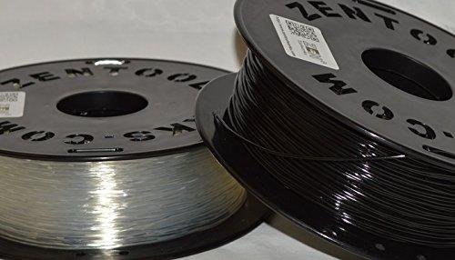 Spool ZEN TOOLWORKSTM Zen Toolworks 3D Printer 1.75mm Flexible Translucent Filament 1kg 2.2lbs