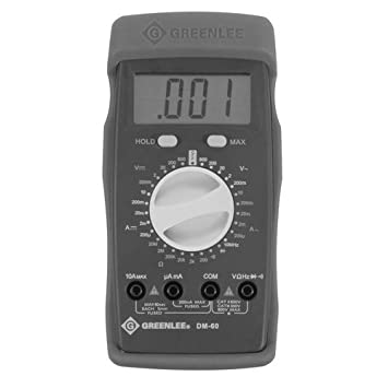 Greenlee DM-60 Manual Ranging Multimeter, 600-Volt AC DC