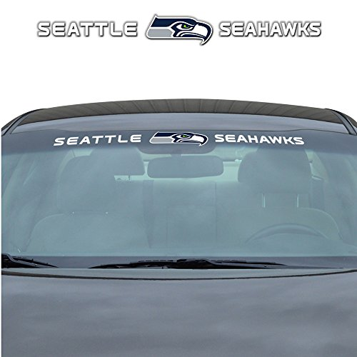 Seattle Seahawks NFL Sports Team Logo Car Truck SUV Front Windshield Window Graphic (Decal Logo Window Graphic)