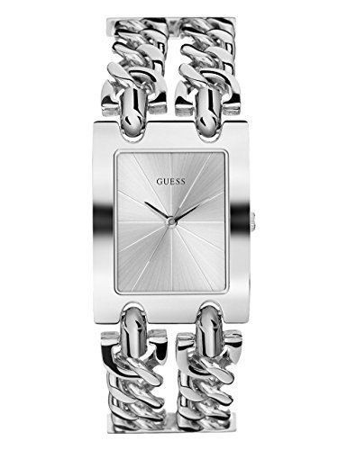 GUESS  Silver-Tone Multi-Chain Bracelet Watch with Self-Adjustable Links. Color: Silver-Tone (Model: U1117L1) ()